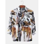 Оригинал              Мужские рубашки с длинным рукавом с принтом в виде животных