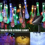 Оригинал              32FT 10 М 100LED Солнечная Water Drop Fairy String Light На открытом воздухе Сад Партия Рождественский Газон Лампа Декор