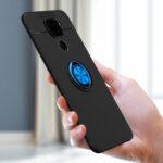 Оригинал              Bakeey Вращающийся на 360º магнитный держатель кольца с Объектив протектором Противоударный Soft Силиконовый Защитный Чехол для Xiaomi Redmi Note 9/Redmi 10
