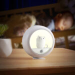 Оригинал              LED Night Light Кот Шкаф Магнитный Аккумуляторный Подвесной Лампа Тумбочка Комната