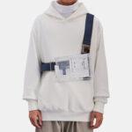 Оригинал              Унисекс Водонепроницаемы ПВХ Мода Прозрачный заостренный плечевой ремень Сумка Crossbody Сумка