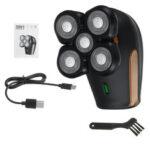 Оригинал              5D 2500 об / мин для мужчин электрический Бритва USB аккумуляторная Водонепроницаемы борода Волосы средство для удаления бритвы Триммер