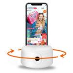 Оригинал              НОВЫЙ Smart AI Gimbal Стабилизатор 360 циклов зарядки Charge Handsfree Держатель для телефона Selfie с портом 1/4 Болт для Штатив для видео Live для Samsung Xiaomi