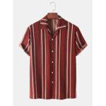 Оригинал              Мужские рубашки в полоску с короткими рукавами