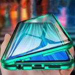 Оригинал              Bakeey для Xiaomi Redmi 9 Чехол 2 в 1 с Объектив протектором Магнитный флип Двухстороннее закаленное стекло-металл Защитная крышка Чехол
