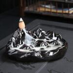 Оригинал              Фарфор Обратный поток Керамический Конус Благовония Держатель Буддийские Конусы Домой Подарок