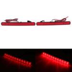 Оригинал              Пара LED Задний бампер Отражатели стоп-сигналов Красный Для Honda Acura TSX 2009-2014 Accord 2008-2015