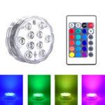 Оригинал              ZANLURE 1/2 / 4PCS Плавательный Бассейн Светлый RGB 16-цветный LED Лампа Дистанционное Управление Цветной декор Лампа Для бумажных фонариков Ваза