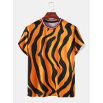 Оригинал              Мужские футболки Zebra с принтом, дышащие и тонкие свободные