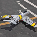 Оригинал              F86 Sabre 1100 мм размах крыла 70 мм EDF Jet Warbird RC Набор с электрическим шасси