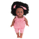 Оригинал              12 дюймов Soft Силиконовый Винил ПВХ Черный Детская мода Кукла Поворот на 360 ° Африканская девушка Perfect Reborn Кукла игрушка для подарка на день р