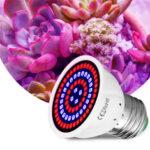 Оригинал              E27 LED Растение лампа для выращивания 48/60/80 LED комнатная гидропонная рассада цветов лампа для выращивания Лампа лампа для цветения овощей в п