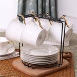 Оригинал              Кофейная кружка 6 чашек, подставка для дерева, подставка для чашки, подвесная стойка, держатель для кухни, аккуратное хранение