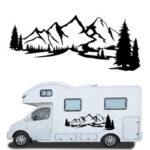 Оригинал              2 шт. Наклейка наклейки боковые тела большие горы для кемпер дома на колесах Ван Караван RVS