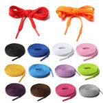 Оригинал              1 пара разноцветных плоских шнурков для спортивной обуви 1,4 м / 57 дюймов, сменные шнурки, шнурки, шнурки для кроссовок