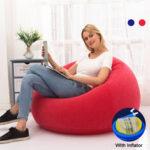 Оригинал              Большой Lazy BeanBag Flocking Надувные диваны, шезлонг, пуф, диван, татами, гостиная