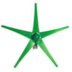 Оригинал              12 В / 24 В 5 Лопасти 1800 Вт пиковый зеленый горизонтальный ветряной генератор с контроллером заряда