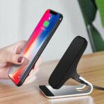 Оригинал              Bakeey 2 в 1 Qi 15 Вт Быстрая зарядка Настольный телефон из алюминиевого сплава Stand Holder для Xiaomi Mi 10 для Samsung Galaxy Note 20 Ultra для смартфона