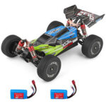 Оригинал              1PC Wltoys 144001 1/14 2.4G 4WD High Speed Racing RC Авто Модели автомобилей 60 км / ч Два Батарея Зеленый