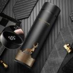 Оригинал              KCASA 500 мл LED температура Дисплей термос кружка из нержавеющей стали бутылка для воды сенсорный экран интеллектуальное измерение двойной ва