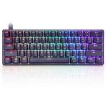 Оригинал              Geek GK61 61 клавиша Механический Игры Клавиатура Оптический переключатель Gateron с возможностью горячей замены RGB Type-C Программируемый 60% макет И