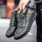Оригинал              Мужчины Натуральная Кожа Нескользящие Soft Повседневные лодыжки Ботинки