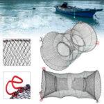 Оригинал              ZANLURE 30×60 см с двумя отверстиями, ловушка для рыбы, краба, ловушка для креветок, омаров, живая приманка, Рыбалка горшок, корзина, Рыбалка, сетча