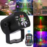 Оригинал              8 отверстий 120 узоров USB LED Лазер Light RGB Проектор Stage Strobe Лампа DJ KTV Party Lighting с Дистанционное Управление