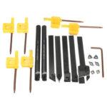 Оригинал              7шт 10мм Токарный станок обработки Инструмент Сверлильный держатель с карбидными вставками MGEHR1010 / SER1010H11 / SCLCR1010H06