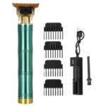 Оригинал              Перезаряжаемый USB Волосы Триммер Аккумуляторный T-Blade Волосы Машинка для стрижки волос Инструмент W / 4 ограничительных гребня
