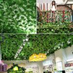 Оригинал              Искусственные виноградные лозы Виноградные листья Зеленые лиственные растения Потолочные декоративные трубы для блокировки лиан
