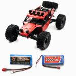 Оригинал              Feiyue FY03H с двумя Батарея 1500 + 3000 мАч 1/12 2,4 г 4WD Бесколлекторный RC Авто Металлический корпус Shell Truck RTR Toy