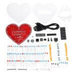Оригинал              Электроника Часы В форме сердца Лампа Love Creative DIY Производство Набор