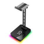 Оригинал              JIUSHARK JSR-1 RGB Подставка для наушников Держатель для гарнитуры с 3 портами USB 1 Многофункциональное основание из алюминиевого сплава Type-c