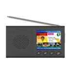 Оригинал              2,4-дюймовый портативный DAB / DAB + Digital Радио FM Приемник Динамик Bluetooth 5,0 Сигнализация Часы