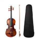 Оригинал              NAOMI Акустическая скрипка 4/4 полноразмерная скрипка с бантом Чехол Bridge Jujube деревянные аксессуары