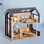 Оригинал              Милая комната Miss Happeiness Theme из DIY Собранный дом Кукла с крышкой для детских игрушек