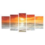 Оригинал              5 шт. Морской пейзаж холст картины настенные декоративные принты художественные картины бескаркасные настенные украшения для домашнего о