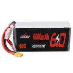 Оригинал              URUAV 22.2V 6000mAh 60C 6S Lipo Батарея XT60 Разъем для RC Racing Дрон