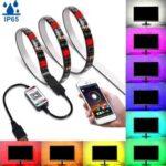 Оригинал              1M / 3M / 5M Bluetooth APP 5050 RGB LED Полоса световая лента IP65 Водонепроницаемы Фон USB Лампа 5V