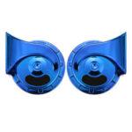 Оригинал              Электрические рожки улитки 400 дБ, красная / фиолетовая / синяя / серебряная / золотая пара для автомобилей 12 В