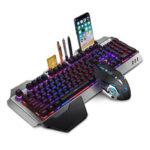 Оригинал              K680 2.4G Wireless Механический Клавиатура и Мышь Набор перезаряжаемых игровых RGB-систем с дыхательной подсветкой Клавиатура 2400DPI Мышь