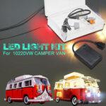 Оригинал              DIY Светодиодный ТОЛЬКО освещение Набор DIY для LEGO 10220 VW CAMPER VAN USB интерфейс