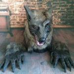 Оригинал              Набор капюшонов с волчьей головой Хэллоуин Маска Horror Animal Masquerade Prop Маска