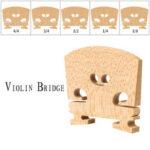 Оригинал              NAOMI Кленовый деревянный мост французский стиль скрипичный мост 4/4 3/4 1/2 1/4 1/8 размер запчасти для скрипки Замена