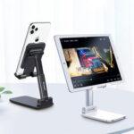 Оригинал              Essager Складной телескопический настольный держатель для планшета для мобильного телефона iPad Air для iPhone 12 XS 11 Pro POCO X3 NFC Xiaomi Mi10