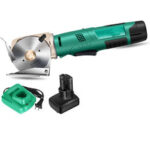 Оригинал              4000 мАч беспроводной перезаряжаемый электрический круглый резак для ткани ножницы для резки ткани W / Батарея