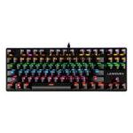 Оригинал              K550 87 клавиш, проводной Механический Клавиатура Синий переключатель Водонепроницаемы 19 Игровая подсветка RGB Клавиатура для Windows XP / 7/8/10