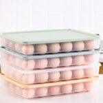 Оригинал              Bakeey Kitchen 24 Grid яйца Картонный холодильник для хранения Коробка Портативный пластиковый контейнер для пикника яйца Картонный лоток яйца
