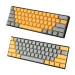 Оригинал              111 ключей Набор оранжевых и серых колпачков OEM Профиль ABS Колпачки для Механический Клавиатура